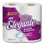 Papel Higiénico Elegante Simple Hoja 30 mts x 4 u