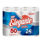 Papel Higiénico Elegante Simple Hoja Blanco 50mts x 24u